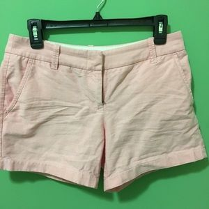 J crew reddish pink chino short